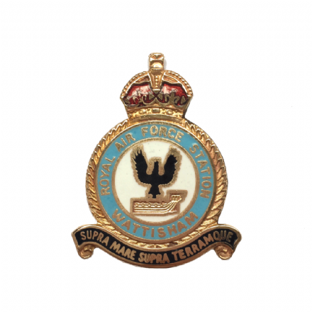 Royal Air Force RAF Station Wattisham Lapel Badge
